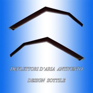 2 Deflettori Aria Antiturbo PEUGEOT 208 2012 in poi 3 porte